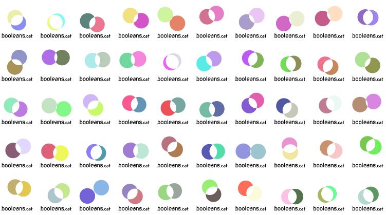 Logo generatiu booleans.cat